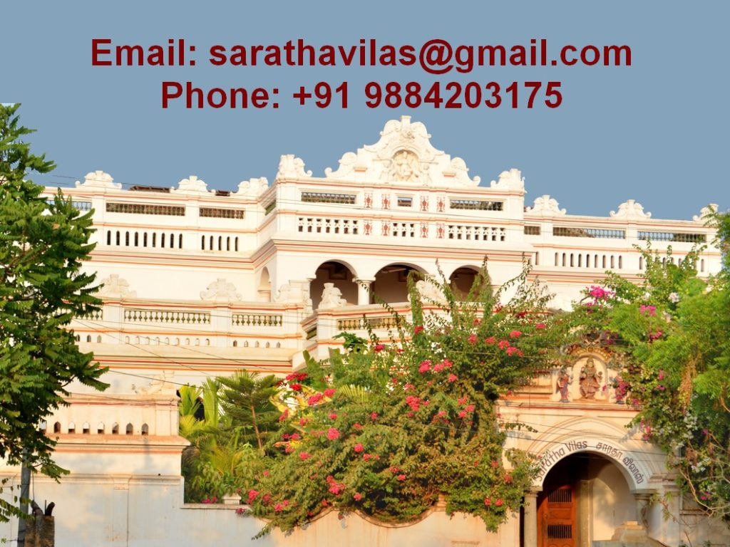 Contact Saratha Vilas Heritage Hotel, Email ID address