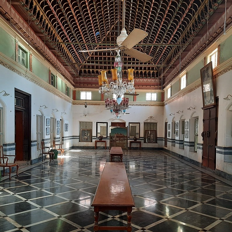 magnificent hall in Chettinad boutique hotel